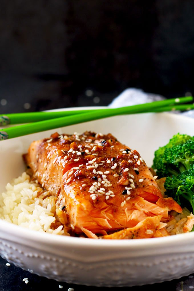 Honey Ginger Salmon DInner