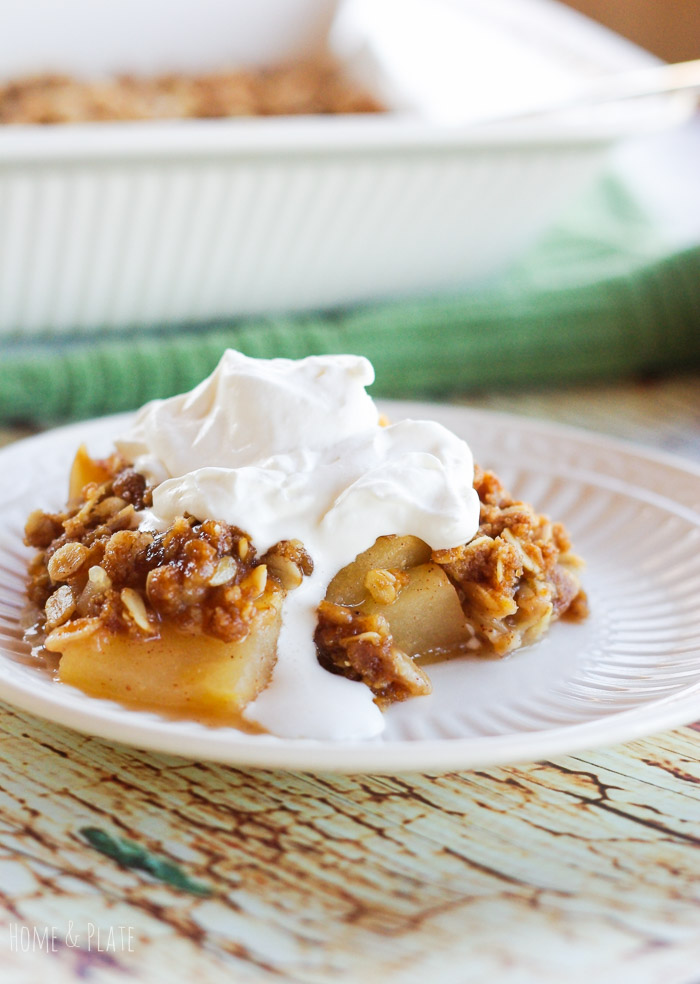 Celtic Apple Crisp With Honey Whiskey Whipped Cream