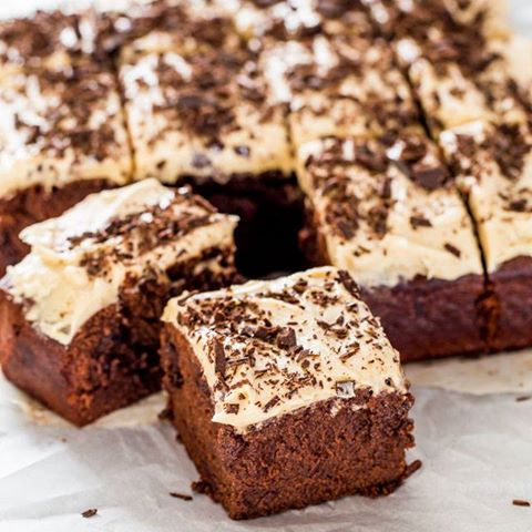 Mile High Guinness Brownies With Guinness Buttercream Frosting