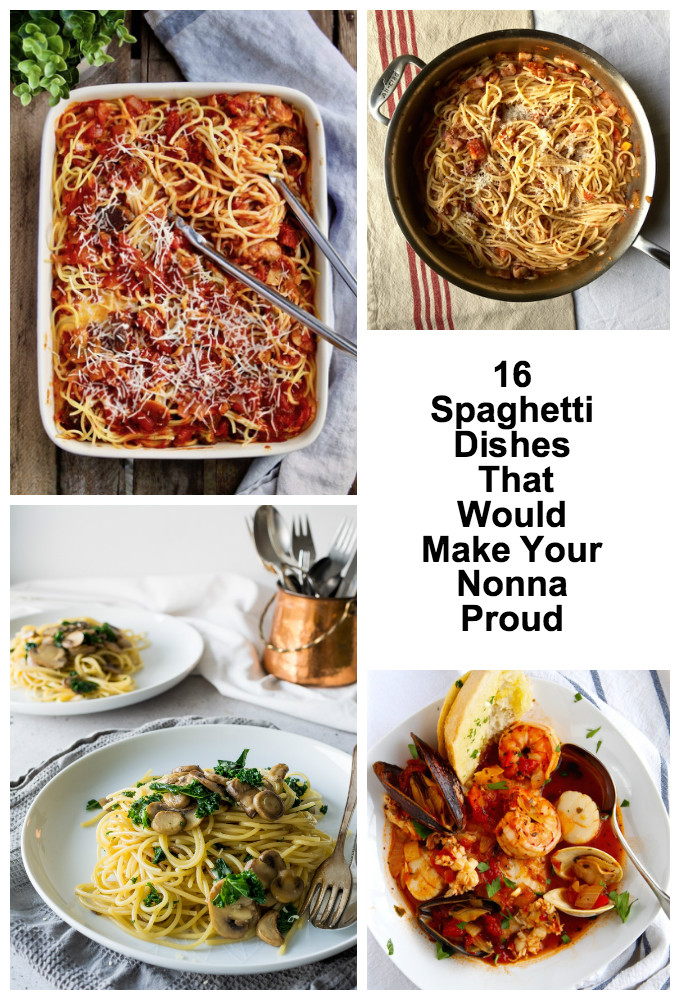Ciao everyone! We have rounded up 16 Spaghetti Dishes That Would Make Your Nonna Proud even if you don't have an Italian Nonna.
