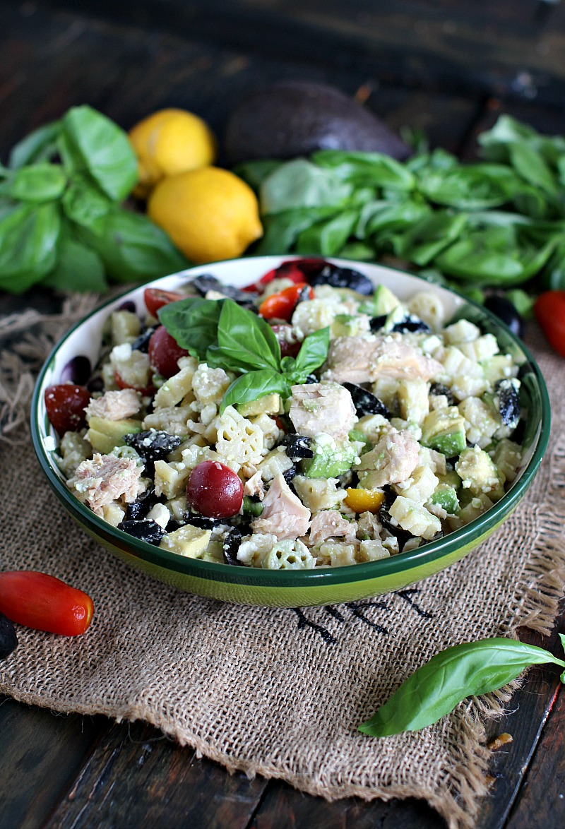 Greek Tuna Pasta Salad