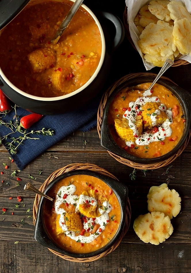 Spiced Yellow Split Pea and Sweet Corn Soup