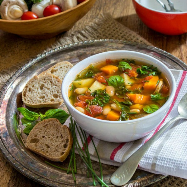 Tuscan Kale, Carrot and Parsnip Soup