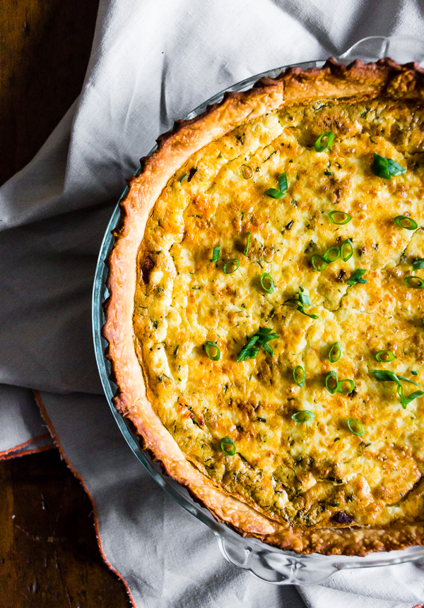 Bacon Onion Herb Quiche