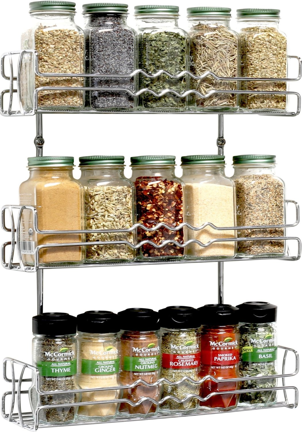 Three Tired Chrome Spice Rack