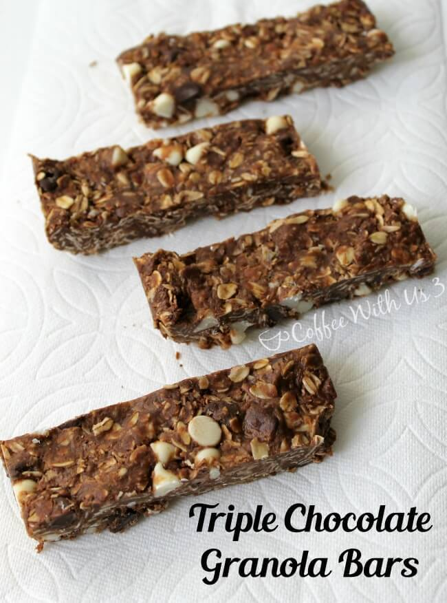 Triple Chocolate Granola Bars