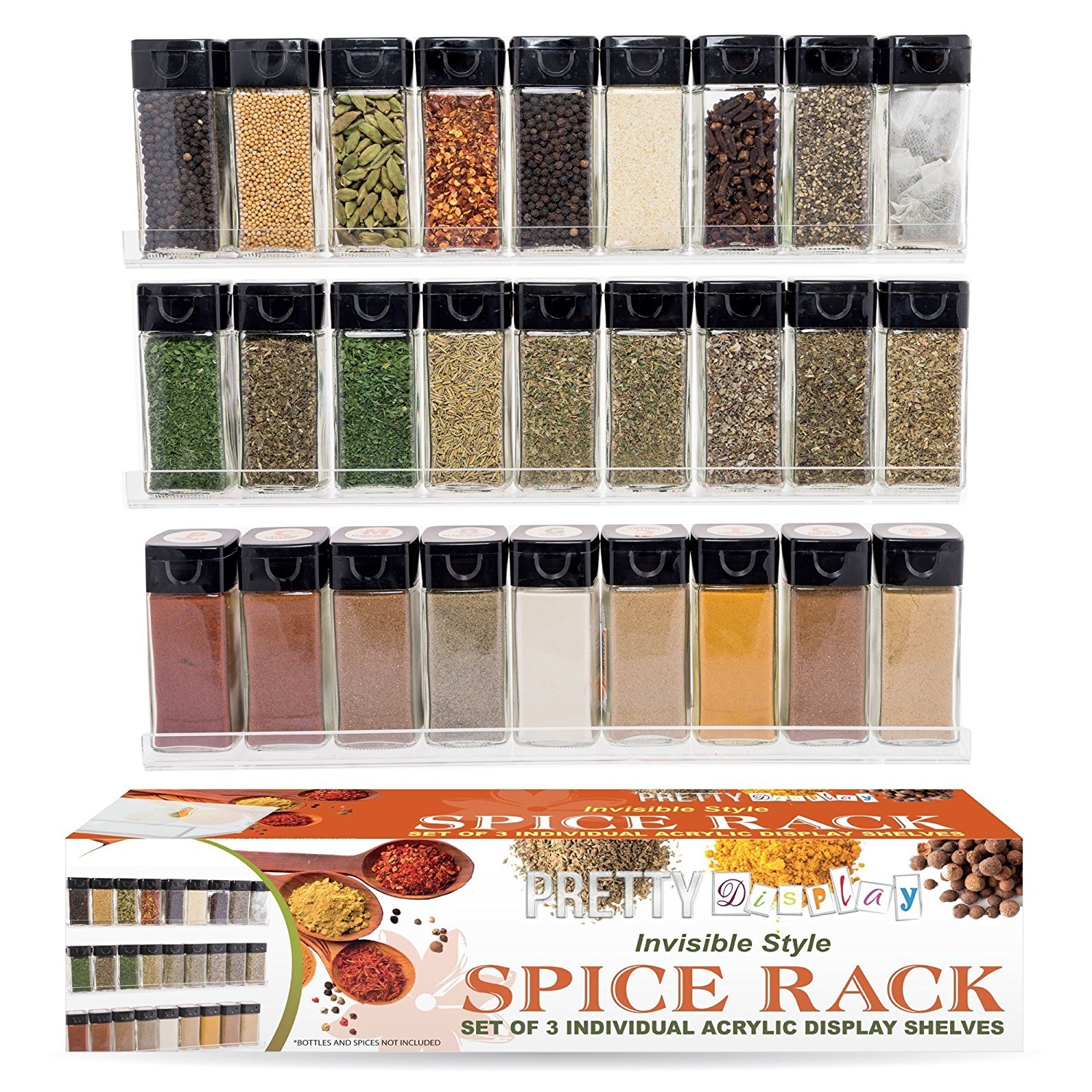 Invisible Style Spice Rack