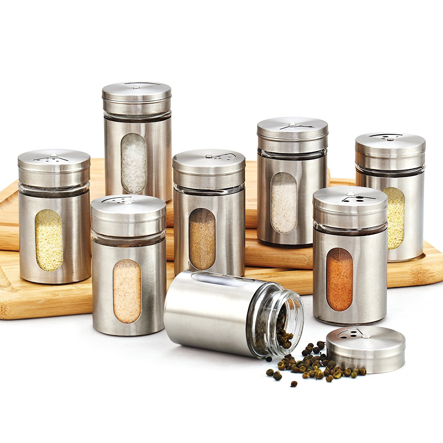 Stainless Spice Bottles
